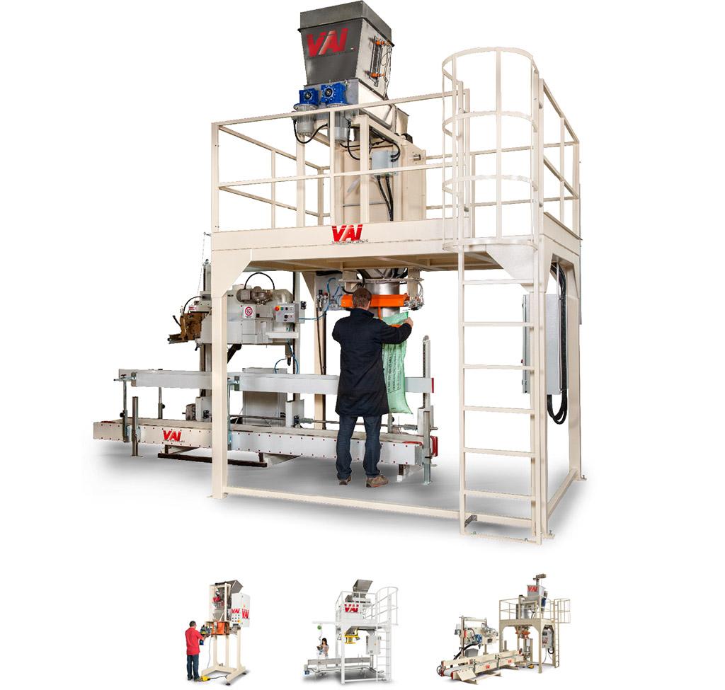 Confezionatrice verticale semiautomatica per basse produzioni